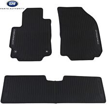2018 Chevrolet Equinox Premium All Weather Front & Rear Floor Mats Black OEM GM