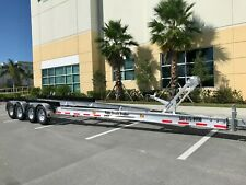New Aluminum Boat Trailer 28000 Lbs - 35 to 40Ft Boats Quad Axles