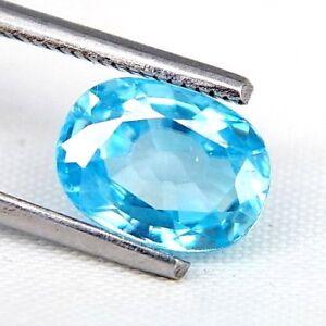 TOP ZIRCONE : 3,58 Ct Natürlicher Blau Zirkon aus Kambodscha