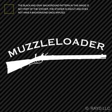 (2x) Muzzleloader Sticker Die Cut Decal Self Adhesive gun powder black hunting