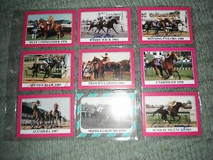 Kentucky Derby Winners Cards JOCKEY SIGNED WITH SEATTLE SLEW TRIPLE CROWN  Nice!