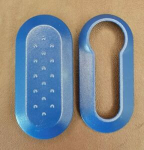 Blue Replacement Key Fob Trim Cover Shell Case Fiat 500, Abarth, Punto, Panda