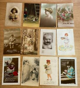150 POSTCARDS CHILDREN THEMED GLAMOUR GREETINGS TYPE COLLECTION LOT