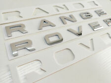 GLOSS Silver RANGE ROVER LETTERS FOR BONNET BOOT EVOQUE SPORT VOGUE
