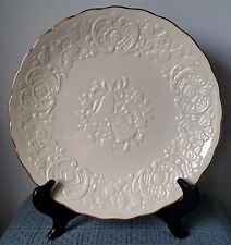 "Lenox ~ Wedding Promises Collection ~ 12½"" CREAM EMBOSSED MARRIAGE PLATE"