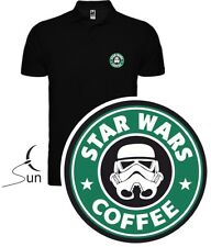 POLO CAMISETA T-SHIRT STAR WARS COFFEE STROMSTROOPER REGALO CAFE SIL Pw002 OUT