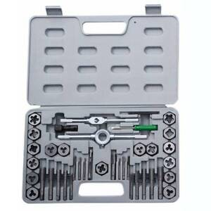 40pcs Tap And Die Set Nut & Bolt Screw Multifunction Thread Cutter Wrench Tools