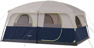 10 Persons Family Cabin Tent Ozark Trail Blue All Season Sleeps 14 X 10