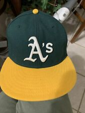 59FIFTY OAKLAND ATHLETICS Cap MLB A's Baseball Fitted Hat Size 7 1/2