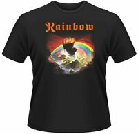 Official Rainbow T Shirt Rising Classic Mens Rock Tee Black Unisex Licensed New