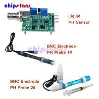 PH Electrode Probe BNC for Arduino + Liquid PH0-14 Value Detect Sensor Module