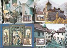 Liechtenstein 1978 Maximum Karten mit Umschlag MiNr. 706-709 Schloss Vaduz