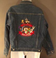 Looney Tunes Warner Bros. Studio Store Denim Jean Jacket Sz M That's All Folks