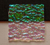 Dichroic Glass CBS 90COE green magenta rippled clear