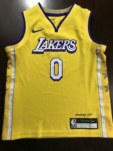 Authentic Nike Los Angeles Lakers Kyle Kuzma Lore Series NBA Youth Jersey Sz L 7