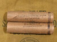 (ONE) FNB Denver Lincoln Wheat Cent Penny Roll 50 Pennies 1909-1958 P D S