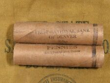 (ONE) FNB Denver Lincoln Wheat Cent Penny Roll 50 Pennies 1909-1958 PDS (R37)
