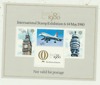 Great Britain 1980 International Stamp Exhibition Souvenir Sheet, MNH