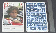 CARTE COUREUR AUTOMOBILE 1984 FORMULE 1 GRAND PRIX F1 PIERLUIGI MARTINI MINARDI