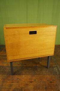 60er Vintage Mini Sideboard Bedside Cabinet Table mid-Century Wood 50er 6