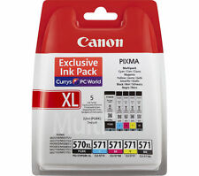 CANON PGI570XL 571 Ink Cartridges Multipack Black Cyan Magenta Yellow MG7753 mg