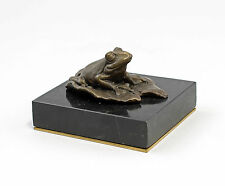 Skulptur Bronze Plastik Figur Frosch 9937824