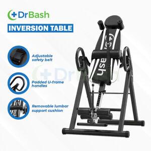 Dr Bash Sturdy Inversion Table Black Foldable Gravity Table Stretcher Inverter