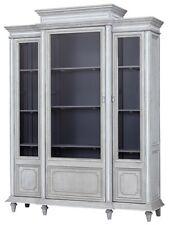 """102"""" Gavino Cabinet Glass Doors Multiple Shelves Three Section"""