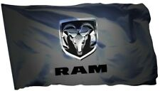 Dodge RAM Flag Banner 3 x 5 ft Man Cave Outdoor RAM F150 CAR RACING BLACK