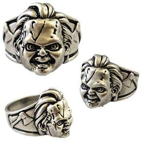 Chucky Ring, Horror Ring, Gunmetal Color, USA