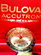 OROLOGIO WATCH BULOVA ACCUTRON ASTRONAUT LUNAR GMT GOLD SPACEVIEW 214 DIAPASON