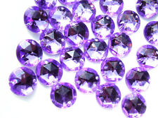 240 Pale Lilac Faceted Beads Acrylic Rhinestones/gems 12 Mm Flat Back Stitch on