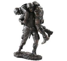 """Wounded Soldier Hand Painted Resin Figurine Miniature Statue 7""""H New"""