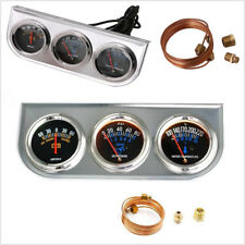 52MM Volt meter +water temp gauge +Oil Pressure Gauge Kit car Triple tachometer