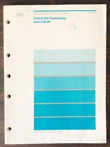 IBM 3174 Establishment Controller - Central Site Customizing User's Guide (1989)