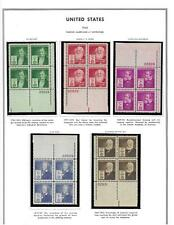 SC#859-93 FAMOUS AMERICANS MNH PLATE BLOCKS VF LOOK