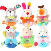 Children Soft Cute Animal Stuffed Toys Handbell Baby Rattles Plush Educational