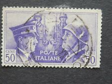 (1) used Italian stamp off paper-Scott # 416-Hitler-Mussolini Axis Pact