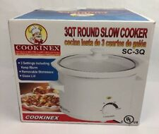 Crock Pot Slow Cooker Portable Small Size Dipper Meal Easy Cook for 2-4 Gift 3qt