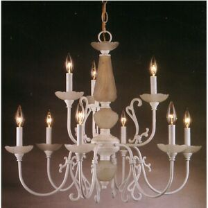 Classic Lighting Bloomington 9 Light Chandelier, White - 3069W