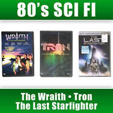 3 Dvd Lot 80's Sci Fi Movie Wraith Tron The Last Straighter Alien Gamer Raci Oop