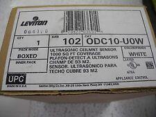 Leviton ODC10-UOW Ultra Sonic Ceilmount Sensor 1000 Sq' Coverage, White, - NEW