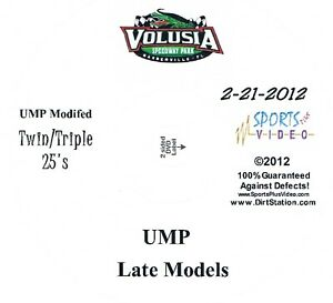 UMP Late Models Afternoon Show DVD From Volusia Speedway Park 2-21-2012