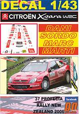 DECAL 1/43 CITROEN XSARA WRC DANI SORDO R.NEW ZEALAND 2006 5th (03)