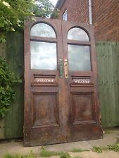 REDUCED A Pair of Huge Victorian Glazed Mahogany Double / French Doors