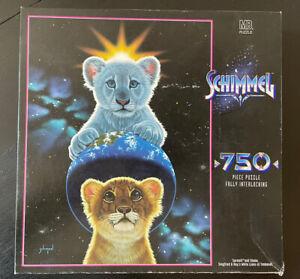 "Tigers - Schimmel ""Sarmoti & Shaka"" 750 Piece Milton Bradley Puzzle 1996 Sealed"
