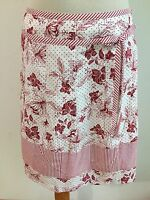 Ann Taylor LOFT Petite A-Line Skirt White w/Red Floral Size 6P NWT MSRP $59