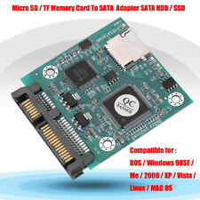 "SD/SDHC/SDXC Flash Memory Card to SATA Converter Adapter as 2.5"" SATA SSD"