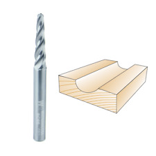 Whiteside #SC66 Solid Carbide Up Cut Conical Ball Nose Spiral Router Bit