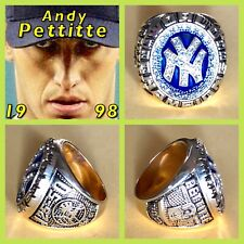 New York's Andy Pettitte 1998 Championship Ring Size 10.5